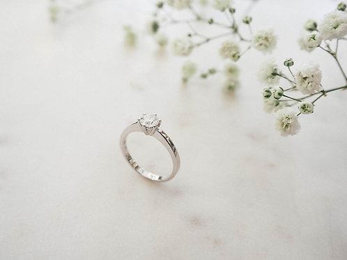 Weißgold Ring mit Brillant