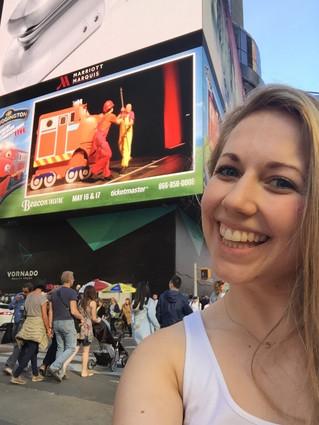 Alexandra on a Times Square Jumbotron!