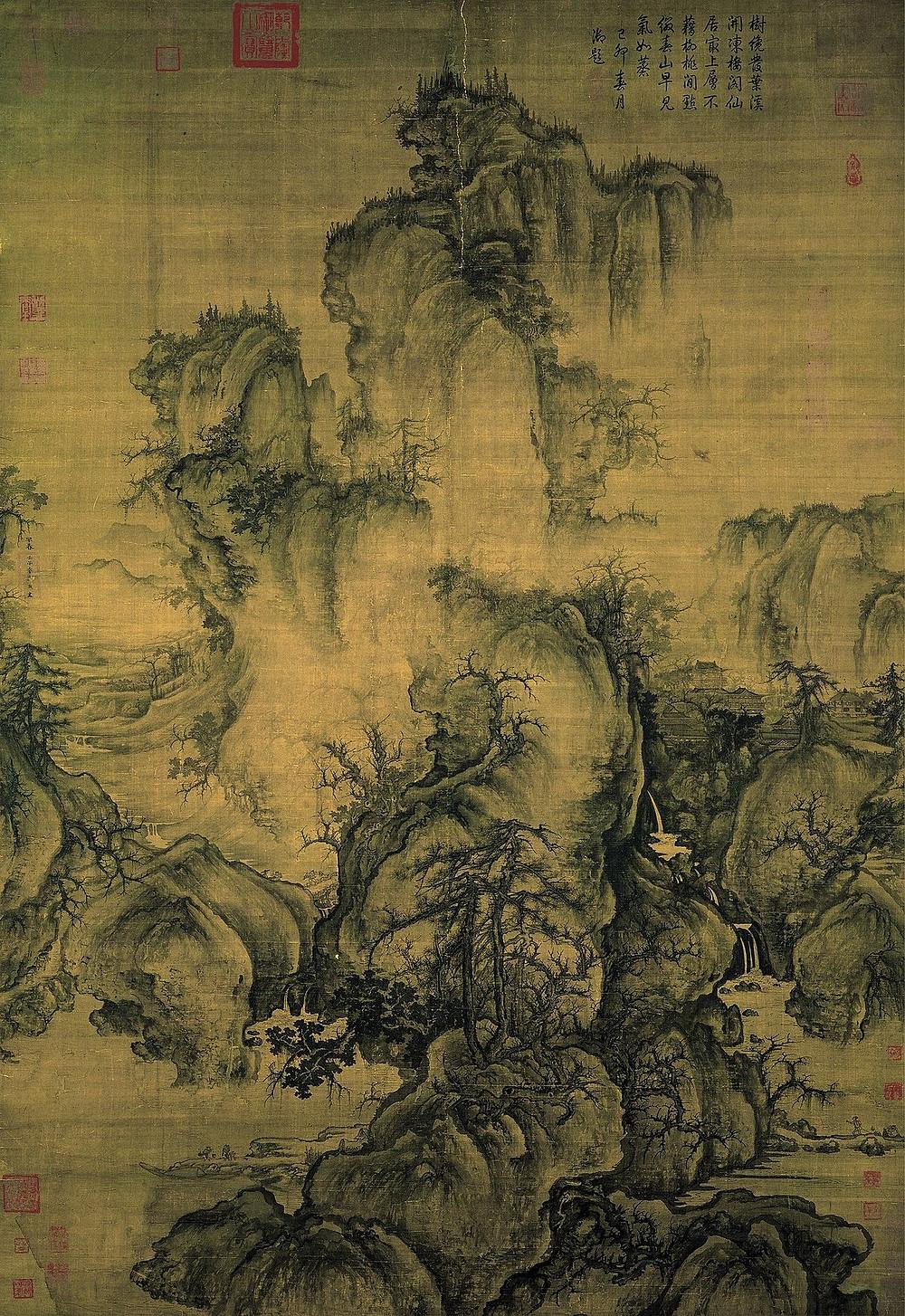 Guo XI, paysage à l'entrée du printemps, 1072, National Palace Museum,  ©wikipédia