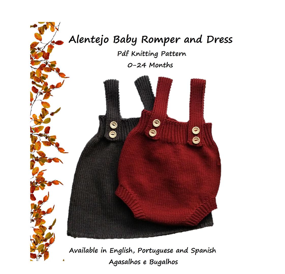 Alentejo Baby Romper and Dress Pdf Knitting Pattern