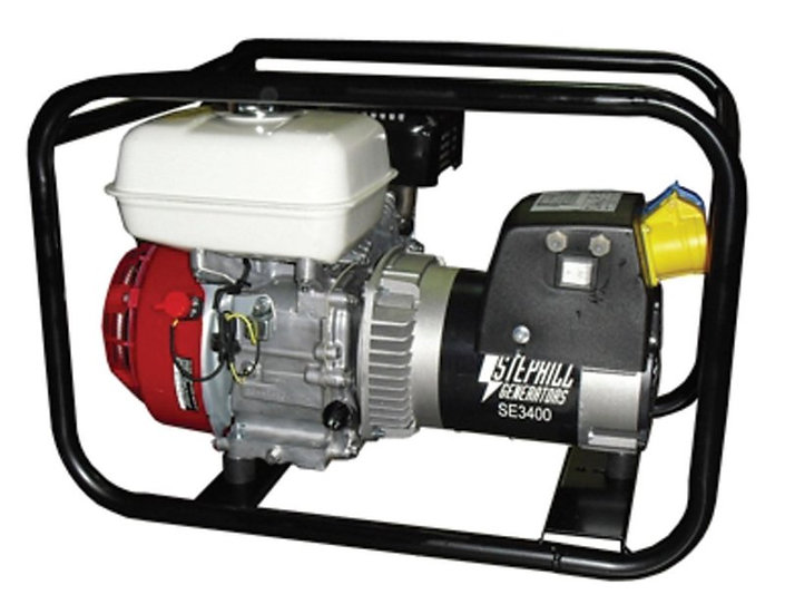 Stephill SE3400 Petrol Generator - 3.4kVA/ 2.7kW