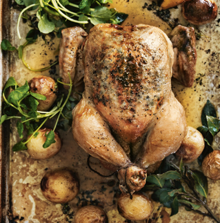Lemon & Garlic Roast Chicken