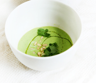 Chilled Avocado and Pea Soup