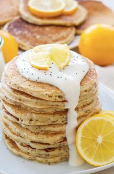 GF Lemon poppyseed pancakes