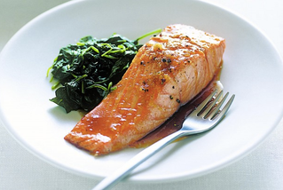 Baked ginger glazed salmon