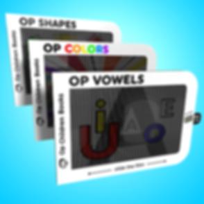 Op Colors, Op Shapes and Op Vowels