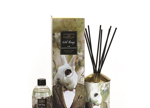 Ashleigh & Burwood Wild Things Diffuser - Sir Hoppingsworth - Cognac & Leather