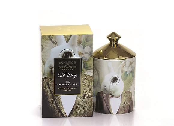 Ashleigh & Burwood Wild Things Candle - Sir Hoppingsworth - Cognac & Leather