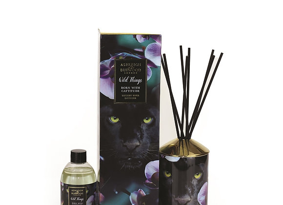 Ashleigh & Burwood Wild Things Diffuser - Born With Cattitude - Dark Ginger Lily