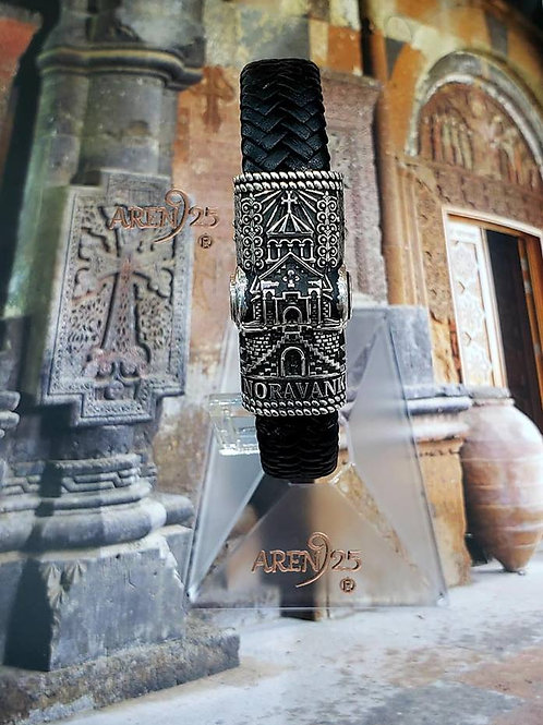 Noravank Leather Magnet Bracelet