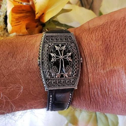 #1333 Aren Medium Sterling Silver Wristband