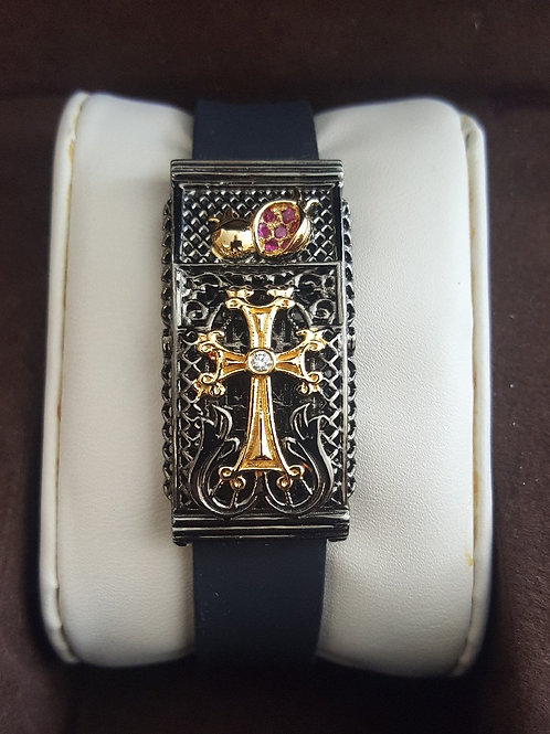 Alique Black Rhodium with 18K Yellow Gold Plate &  Sterling Silver