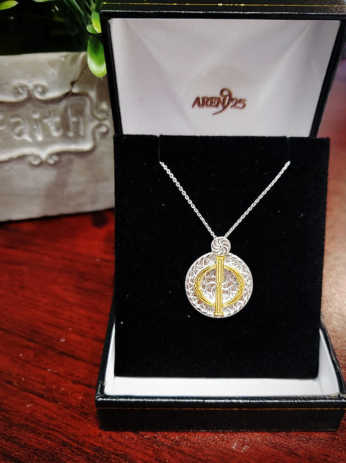 """Armenian """"Pur """" Sterling Silver Pendant with Gold Plated Letter"""