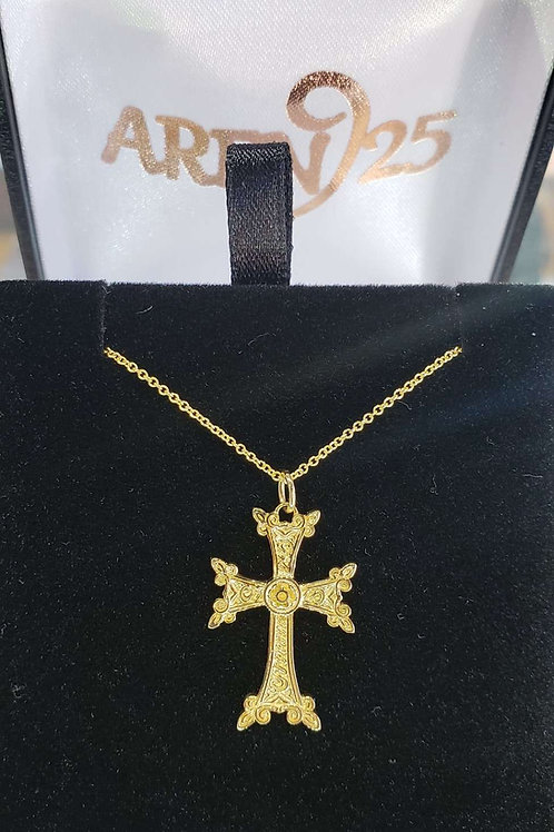 9.3 inch Small 14K yellow gold cross