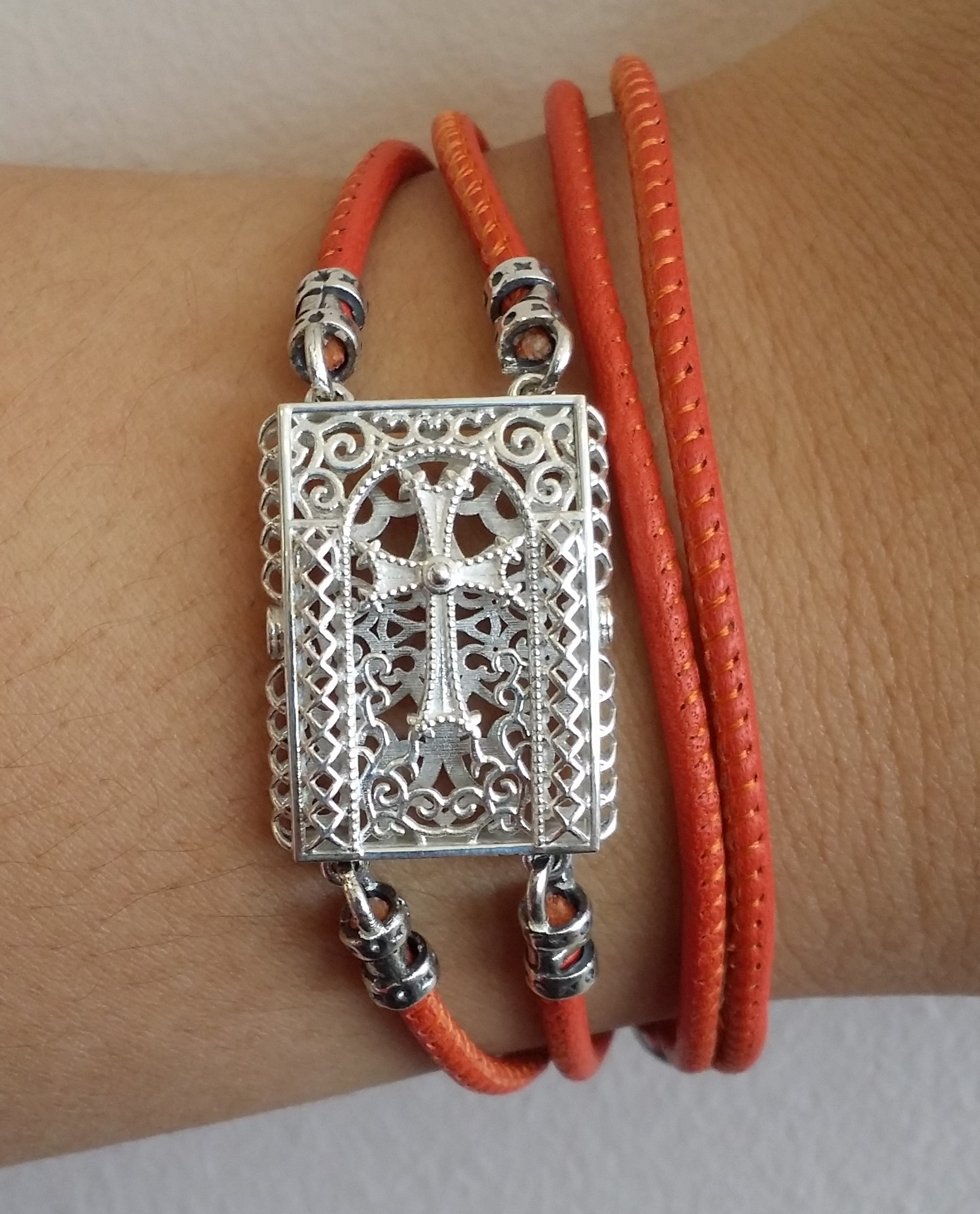 Description: Khachkar SM bracelet  M