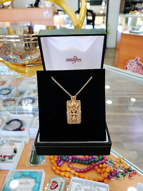 #1374 - Pomegranate 14K Rose Gold Pendant with Chain