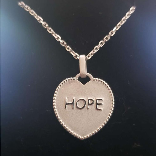 Hope pendant  19mm x 20mm Silver 925