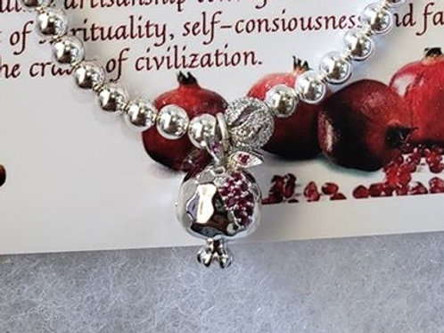 Silver beaded pomegranate Bracelet