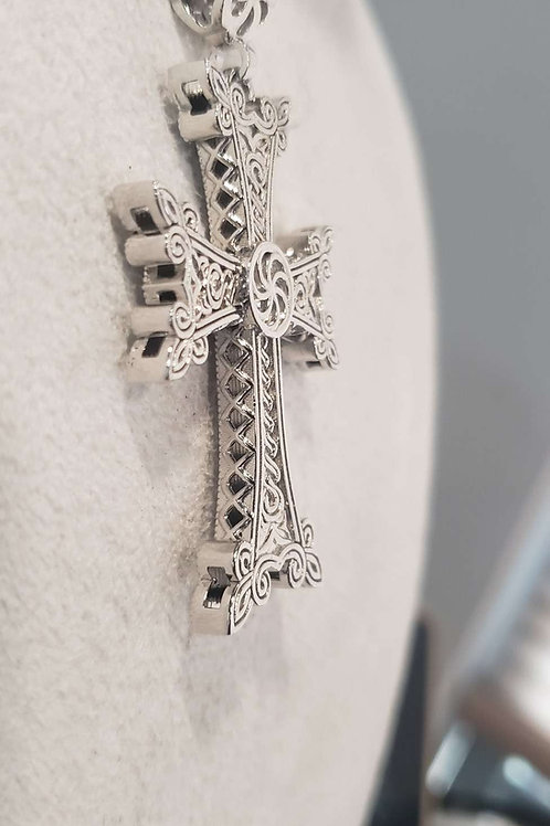 Khachkar X Silver cross 2 sided