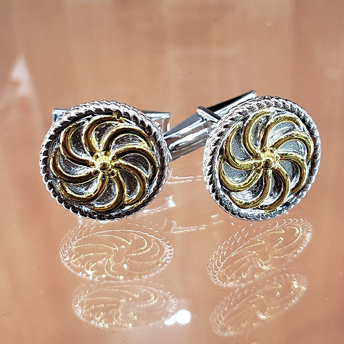 #1416 - Arevakhach Eternity Cuff links Small