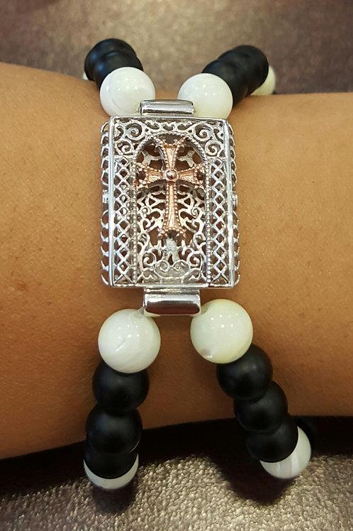 Tatev Two-Tone Double Beaded Bracelet