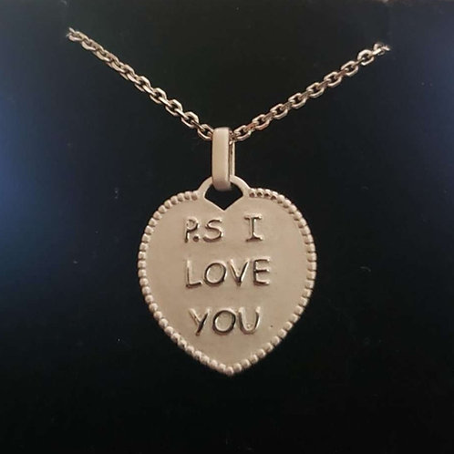 P.S I love you 20mm x19mm Silver 925