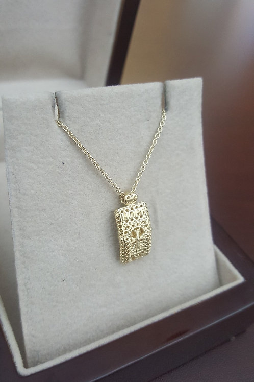 #1370 - Hope 14K Gold Pendant with Gold Chain