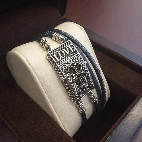 Love Fashion Double Strap Bracelet