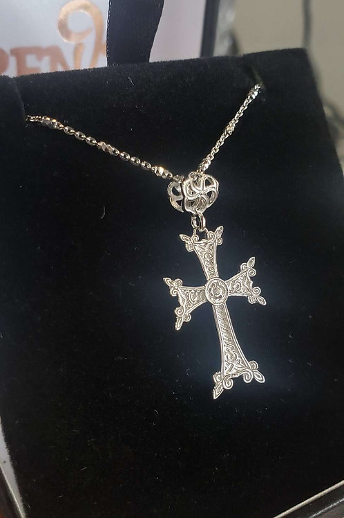 Small Cross pendant 2 sided