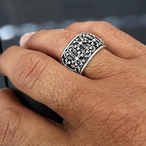 #1409 Khachkar Wedding Band Sterling Silver