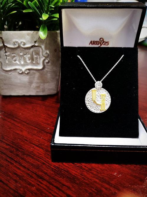 "Armenian ""Gen - Ken"" Sterling Silver Pendant with Gold Plated Letter"