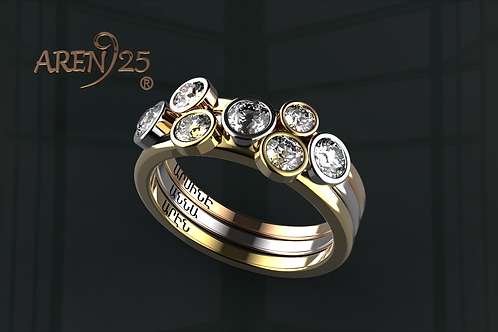 3 color Diamond ring