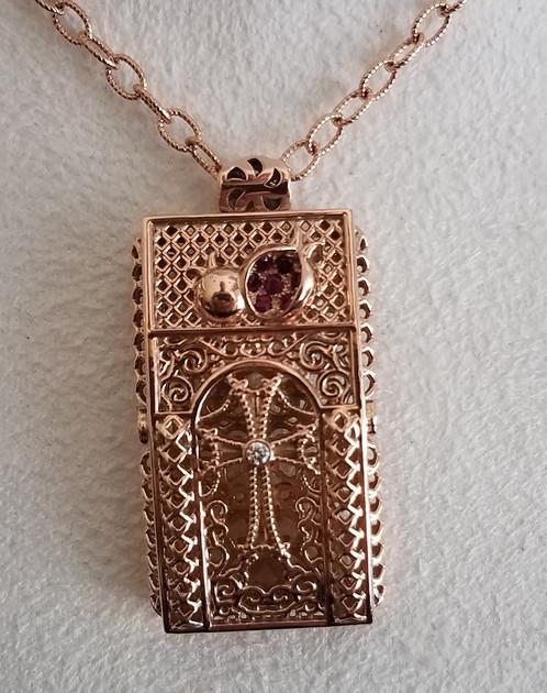 Sevan 14k rose gold pendant aren925 aloadofball Image collections
