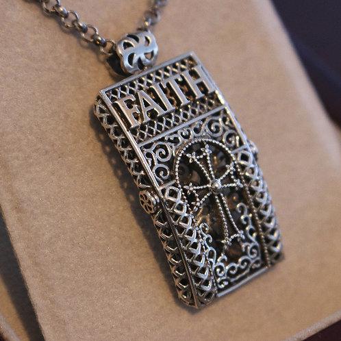 Faith Pendant with Silver Chain