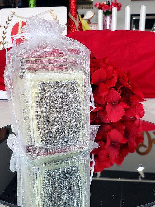 Silver Plated Khachkar Candles