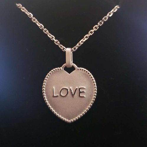 Love Pendant 19mm x 20mm Silver 925