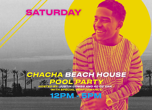 Chacha the Wave Beach House Pool Party Table