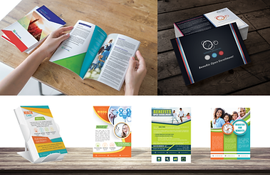Benny Book, Open Enrollment Guides, Open Enrollment Booklets, Employee Benefit Brochures, Employee Benefit Guides, Employee Benefits Communication, Employee Benefits Posters, Benefit postcards, benefit direct mail postcards, healthcare flyers, healthcare posters, wellness flyers, Benefit Booklets