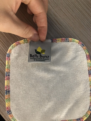 Bells Bumz Rainbow Bamboo wipes