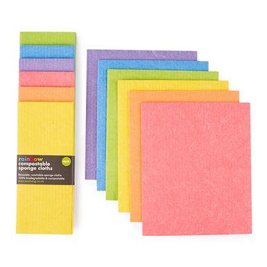 Compostable Sponge Cloths- 6 pack