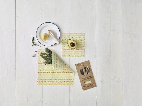 Vegan Food Wraps- Small Kitchen Pack