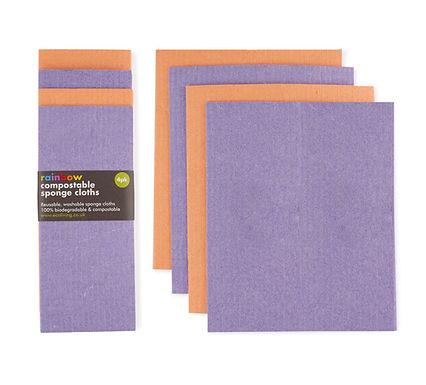 Compostable Sponge Cloths- 4 pack