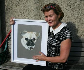 pastel dog drawing sample