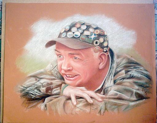 tom pastel drawing
