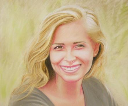 pastel portrait drawing girl