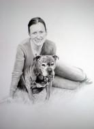 woman & dog portrait