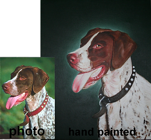 paint portraits from photos, dog