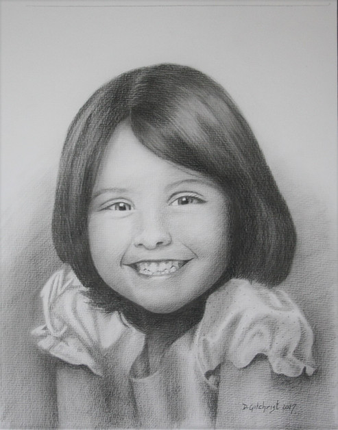 portrait pencil girl