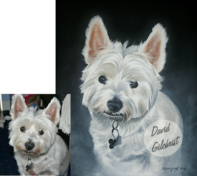 dog painting portrait