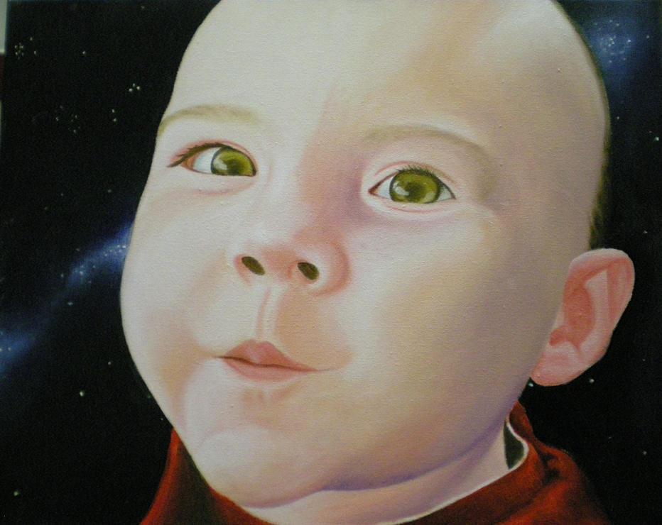 baby oil portrait